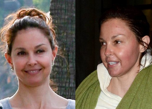 Ashley Judd Without Makeup With Her Dogs In Beverly Hills