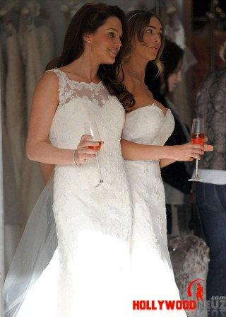 hollywood gossip, hollywood latest news, hollywood news, hollywood news today, Danielle Lloyd, wore, wedding dress, pal's, gown, fitting