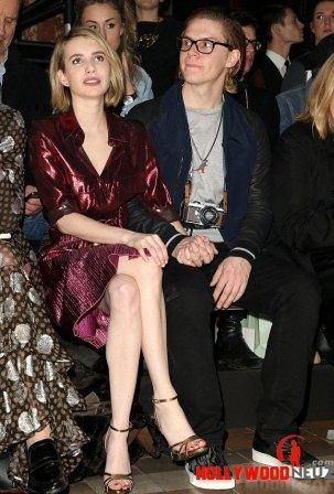 hollywood gossip, hollywood latest news, hollywood news, hollywood news today, Emma Roberts, attended, Lanvin's FW show, fiancé, Evan Peters