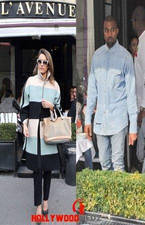hollywood gossip, hollywood latest news, hollywood news, hollywood news today, Kanye West, Jessica Alba, dined, fancy Paris restaurant, same time
