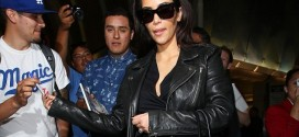 hollywood gossip, hollywood latest news, hollywood news, hollywood news today, Kim Kardashian, strolled, LAX, leather jacket, grey jeans