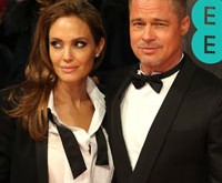 Angelina Jolie and brad Pitt on the screening of the movie