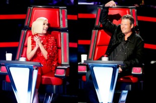 Blake Shelton and gwen steffani on the voice