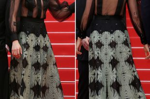 Kristen Stewart Wore a Black Braless Suit At Cannes Film Festival